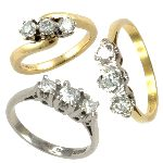 Diamond 3 stone rings