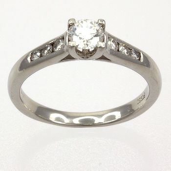 Platinum Diamond 53pt Single stone Ring size N