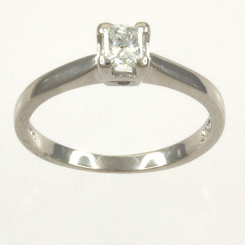 Platinum Diamond 40pts Single stone Ring size K