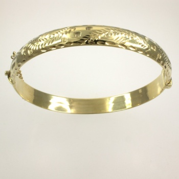 9ct gold 8.9g hinged Bangle