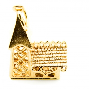 9ct gold Church Charm
