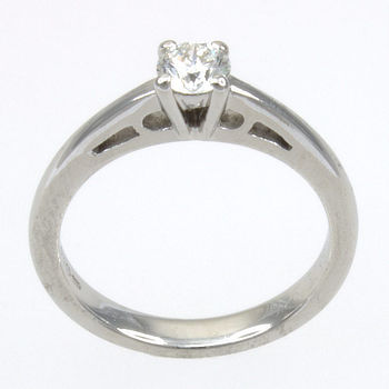 18ct white gold Diamond 26pt Single stone Ring size I