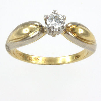 18ct gold Diamond 23pt Single stone Ring size M½