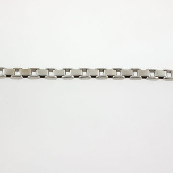9ct white gold 7½ ins / 19 cm box Bracelet