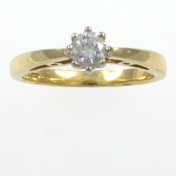 18ct gold Diamond 25pt Single stone Ring