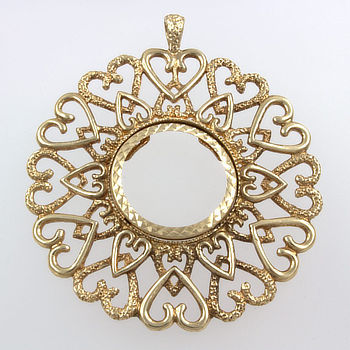9ct gold mount coin / medallion Pendant