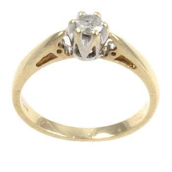 18ct gold Diamond 10pt Single stone Ring size I½