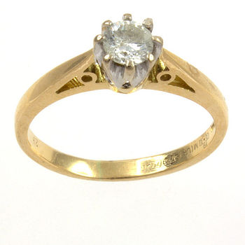 18ct gold Diamond 29pt Single stone Ring size I