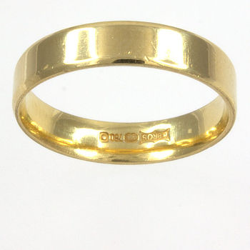 18ct gold Band Ring size L