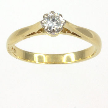 18ct gold Diamond 16pt Single stone Ring size I