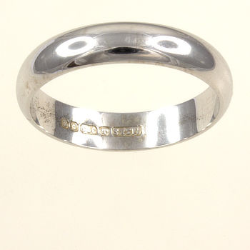 9ct white gold Band Ring size K½