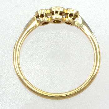 18ct gold & Platinum Diamond 3 stone Ring
