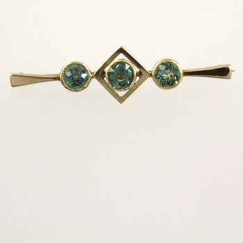 15ct Gold Paste Brooch