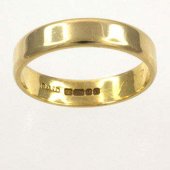 18ct gold Band Ring size K
