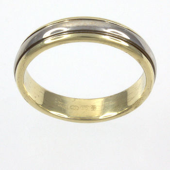 9ct gold 2-tone Band Ring size K