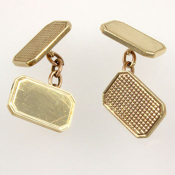 9ct gold 12.1g Cuff-links Gents jewellery