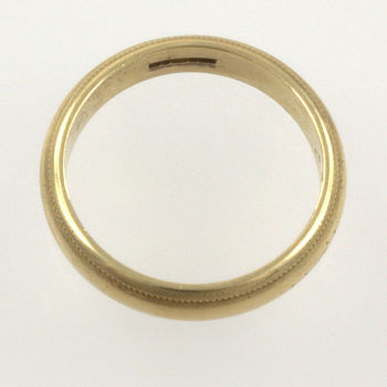 9ct gold 3.3g Band Ring size L½