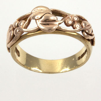 9ct gold 2-tone Clogau Band Ring size N