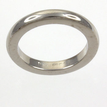 18ct white gold 6.9g Band Ring size K½