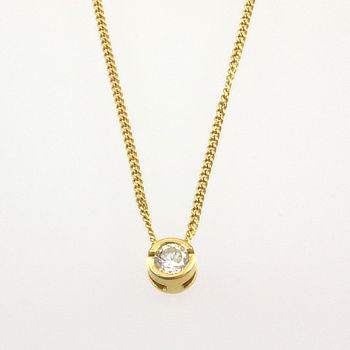 18ct gold Diamond 25pt Pendant with chain