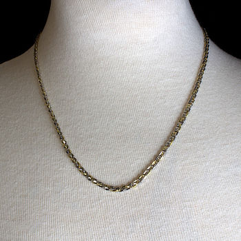 9ct gold 2-tone 18 inch / 46 cm fancy Chain
