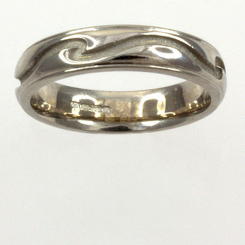 18ct white gold Band Ring size I½