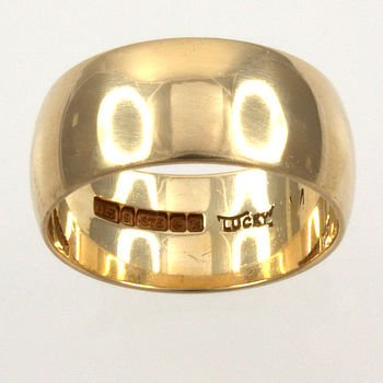 9ct gold Band Ring size L