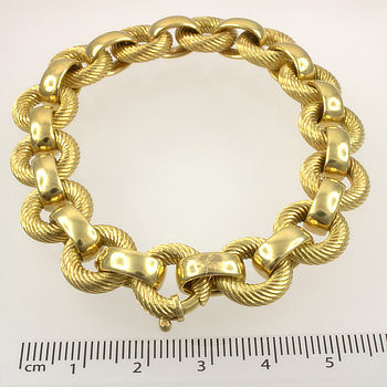 18ct gold 8 inch / 20 cm fancy Bracelet