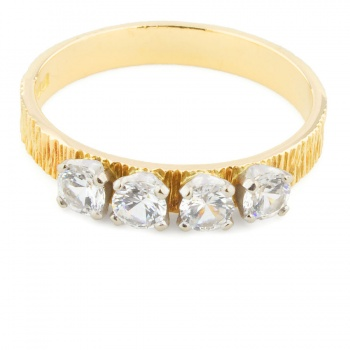 18ct gold C.Z. 4 stone Ring size N