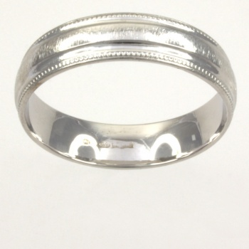 18ct white gold Band Ring size X