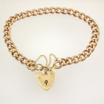 9ct gold curb Bracelet