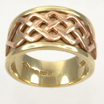 9ct gold 2-tone Clogau Band Ring size P