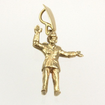 9ct gold Police man Pendant