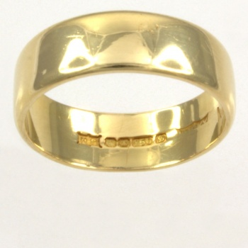 18ct gold 4.4g Band Ring size L