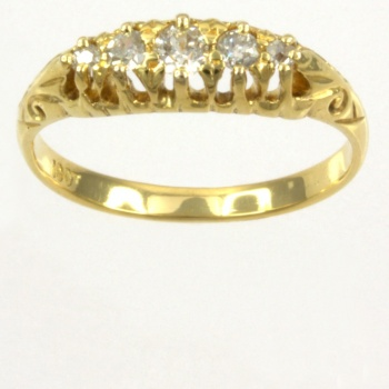 18ct gold Diamond 5 stone Ring size M