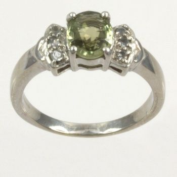 9ct gold Real Stones Single stone Ring size N