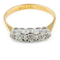 18ct gold Diamond 5 stone Ring size K
