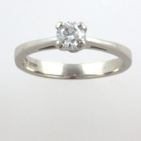 Platinum Diamond 33pt Single stone Ring size M