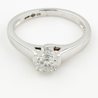 Platinum Diamond 33pt Single stone Ring size J½
