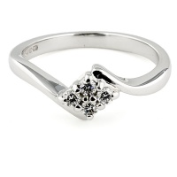 9ct white gold Diamond 24pt Cluster Ring size K