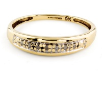 9ct gold Diamond half eternity Ring size N½