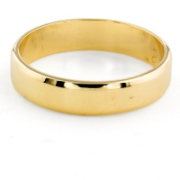 9ct gold 2.2g 4mm wide Band Ring size K