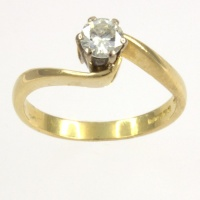 18ct gold Diamond Single stone Ring size K½
