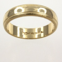 9ct gold Band Ring size I