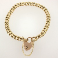 9ct gold 8 inch / 20 cm Albert Bracelet