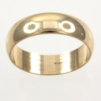 9ct gold 2.8g Band Ring size K½