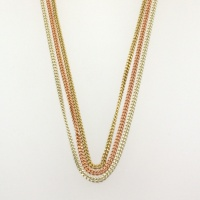 9ct gold 3-tone 14 inch/360mm Chain