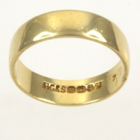 18ct gold 3.3g Band Ring size L ½