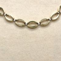 9ct gold 2-tone 17.3g 16 inch / 41cm neck collar