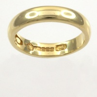 18ct gold Clogau Band Ring size L